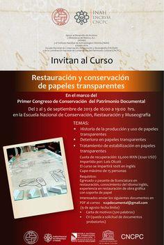 ADABI invita al Curso Restauración y conservación de papeles transparentes.