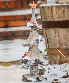 Snowfall Tree Figurine by Evergreen #zulily #zulilyfinds