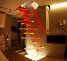 Best home design diy cool ideas stairs 50 ideas Home Design Diy, Nachhaltiges Design, Home Interior Design, Creative Design, House Design, Modern Design, Stairs Architecture, Architecture Design, Amazing Architecture