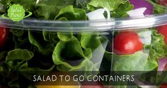 Make sure to choose healthy options that keep you full and stay away from the cafeteria or vending machine. It can be easy to give in to tem Salads To Go, Vending Machine, Healthy Options, Container, Tools, Canning, Vegetables, Accessories, Instruments