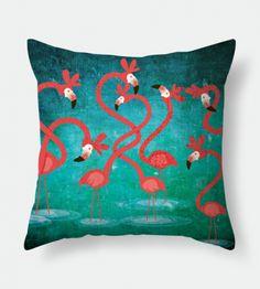 Flamingos – Almofada / Throw Pillow