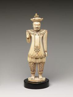 Portrait of the Sinhalese King Sri Vikrama Raja Sinha (r. 1798–1815)  Sri Lanka   Ivory sculpture