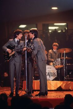 Beatles' first U.S. concert in Washington, D.C. This rare color image reveals the jelly beans thrown by fans. Fred Ward