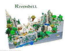 Lego Rivendell by Blake's Baericks, via Flickr