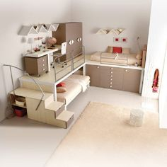 Well planned and executed for child / teen room.