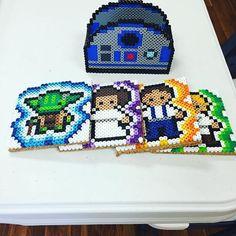 Star Wars coaster set perler beads by jtpretender
