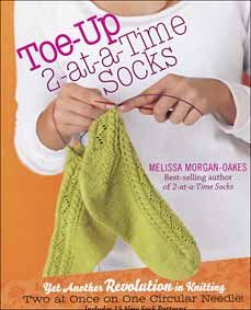 The 2-at-a-time technique changed sock knitting forever. Grab one circular needle, begin at the toes, and work your way up to a cozy pair of socks. *Never run out of yarn again; as long as the feet are done, you can knit the sock legs as long or as short as your yarn allows. *Perfectly sized socks every time. Beginning with the feet allows you to try on your socks as you work. *No more orphan socks! Begin two socks together, finish them together!