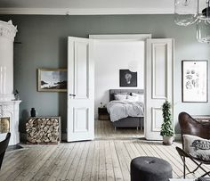 Scandinavian Apartment In Sage Green & White