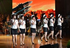 An art performance was jointly given by the Moranbong Band and the State Merited Chorus at the People's Theater Sunday to celebrate the successful second test-fire of intercontinental ballistic rocket Among the audience were Ri Korean Wave, North Korea, Pop Culture, Success, Celebrities, People, Channel, Fire, Youtube