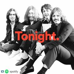From #Instagram...  No words... #TheBeatles  #Repost @spotify with @repostapp   ・・・   The greatest band. The entire catalogue. Tonight at midnight.