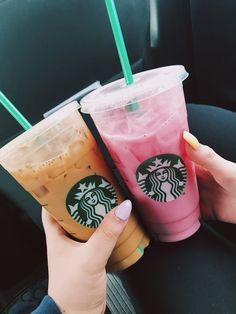 Starbucks Summer Drinks, Bebidas Do Starbucks, Starbucks Secret Menu, Starbucks Recipes, Starbucks Coffee, Coffee Is Life, Coffee Love, Fun Drinks, Yummy Drinks