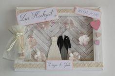 Geldgeschenk zur Hochzeit - Vintage rosé/beige von ~purFürstlich~ auf DaWanda.com