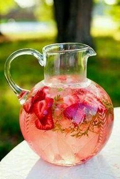Strawberry water [ SkinnyFoxDetox.com ] #skinny #detox #health