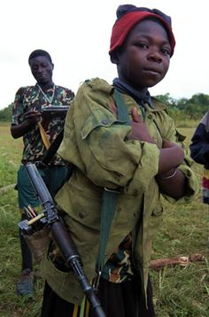 Africa has the largest number of child soldiers. Child soldiers are being used in armed conflict in Central African Republic, Chad, Democratic Republic of Congo, Somalia and Sudan / #child_soldiers #children_of_war