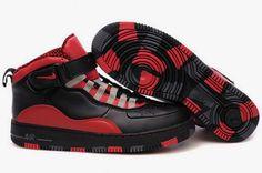 7d29571765e7 Air Jordan Retro 10 Shoes Red Black