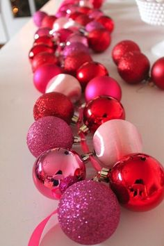Make a DIY Ornament Garland.