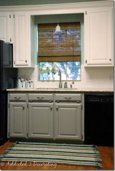 Black Bottom And White Top Kitchen Cabinets niki - this so looks like something you could do in your kitchen