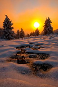 Amazing Winter Sunset
