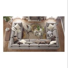 A great big couch for the family room for conversations, reading and living. No TV in here! - M