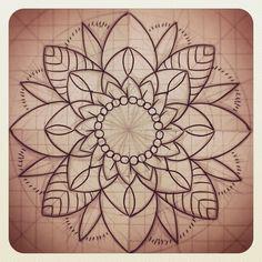 flower mandala linework