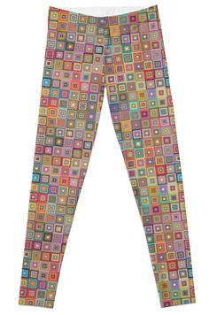Leggings - Unique Patterns - illustration design  Leggings leggins Very Colorful  by FallenRevol
