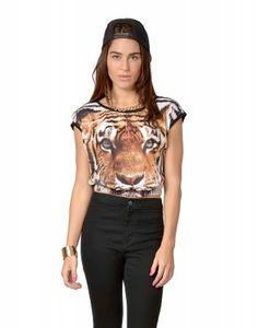Haut écourté tigre - Hauts - Vêtements