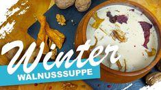 Cremige Walnusssuppe - Rezept von Um Die Welt Kochen Pancakes, Breakfast, Food, Brown Bread, Sheet Pan, Oven, World, Cooking, Food Food