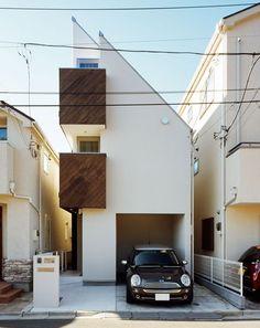 CASE 074 | 光を捉える狭小住宅(東京都大田区) |ローコスト・低価格住宅|狭小住宅・コンパクトハウス | 注文住宅なら建築設計事務所…