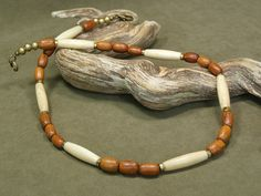 Mens Necklace  Beaded Necklace  Native by StoneWearDesigns on Etsy, $43.00