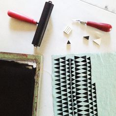 Learn to print your own patterned fabric with Cotton & Flax!