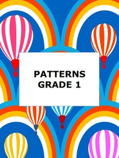 Great pattern review for 1st grade