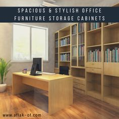 Are you looking for storage office furniture that is more functional, easier to organize, and professional-looking, then look no further. Book a consultation with us and get the Best Quality Office Furniture Storage. Office Storage Furniture, Furniture Design, Wood Bookshelves, Book Shelves, Bookcase, Luxury Modern Homes, 3d Cnc, Home Office Design, Office Designs
