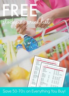 FREE Stockpiling Price List! Get this Free Printable to save the most money at the store! Great tips for stocking up on the items you use!
