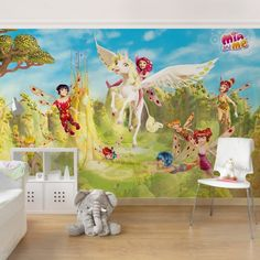 Kindertapeten - Vliestapeten - Mia and me - Über dem Elfenpalast - Fototapete Breit