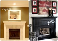paint fireplace black | ... painting the fireplace black……..WOW! Love every bit of it! I can
