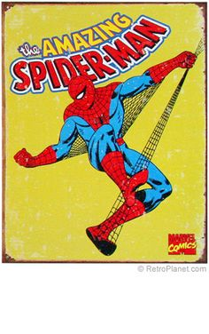 Spiderman... so awesome! i really want an old spiderman poster