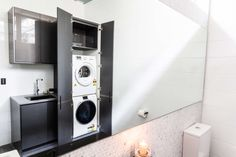 Bathroom innovative with washing machine design laundry walls food floor wash room hand clearing. Garage Laundry Rooms, Ikea Laundry Room, Laundry Cupboard, Laundry Room Remodel, Laundry Storage, Laundry In Bathroom, Hidden Laundry, Small Laundry, Swimwear