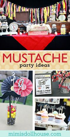 Mustache Party: It's A Mustache Bash I mustache you if you're ready to party! Looking for mustache party inspiration? This party is fun, colorful and full of 'stache! Be sure to also check out our other mustache party ideas! Diy Party Crafts, Craft Party, Mustache Party Decorations, Mustache Party Food, Mustache Birthday, Party Desserts, Party Treats, Boy Birthday Parties, Birthday Ideas
