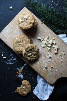 White Chocolate Hazelnut Crunch Cookies with Orange Zest