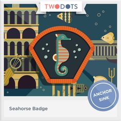 I snorkeled in deep water and salvaged my Seahorse Badge! - playtwo.do/ts #twodots