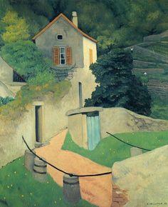 A Vallon Landscape, Felix Vallotton Medium: oil,canvas Pierre Bonnard, Landscape Artwork, Landscape Illustration, Illustration Art, Lausanne, Paul Gauguin, Oil Canvas, Kunst Online, Art Online