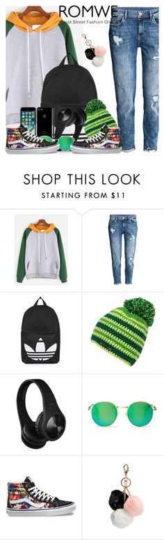 """""""Romwe"""" by nejra-l ❤ liked on Polyvore featuring H&M, Topshop, Wildfox, Vans, GUESS, men's fashion and menswear"""