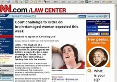 Ad Placement Fail -  Brain injury article beside an ad for online IQ tests.