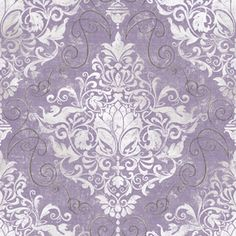 allen + roth Purple and Silver Strippable Non-Woven Paper Prepasted Classic Wallpaper