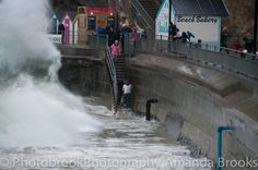 Man nearly swept into the sea in Newquay storm swell Sea To Shining Sea, Newquay, Dog Pictures, Niagara Falls, Brave, Cornwall, Sunset, Dogs, Pet Dogs