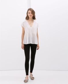 HIGH WAISTED LEGGINGS - Trousers - Woman - COLLECTION AW14 | ZARA Taiwan