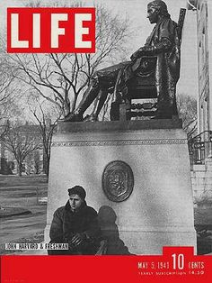 """Harvard - Life Magazine, May 5, 1941 issue - Visit http://oldlifemagazines.com/the-1940s/1941/may-05-1941-life-magazine.html to purchase this issue of Life Magazine. Enter """"pinterest"""" for a 12% discount at checkout. - Harvard"""