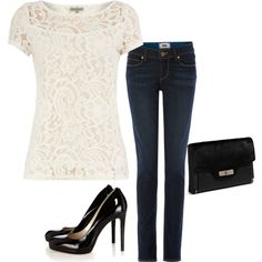 """Casual Evening Outfit"" by seamerias on Polyvore"