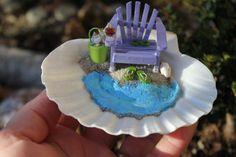 Desktop Miniature Beach Vacation Lavender by LandscapesNMiniature, $32.50