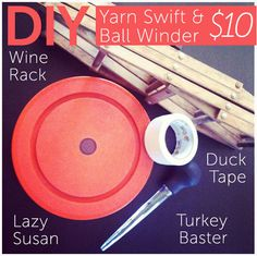 DIY Yarn swift and ball winder